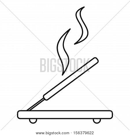Incense sticks icon. Outline illustration of incense stick vector icon for web design