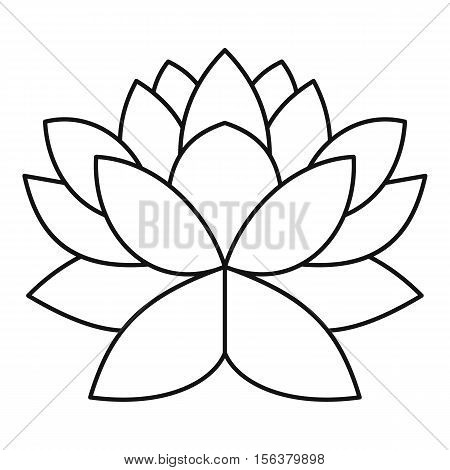 Lotus flower icon. Outline illustration of lotus flower vector icon for web design