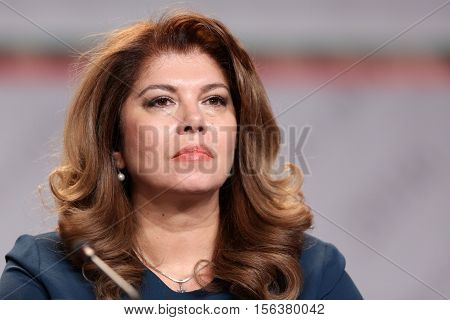 Vice President Iliana Iotova Speaks During A News Conference After The Presidential Vote.