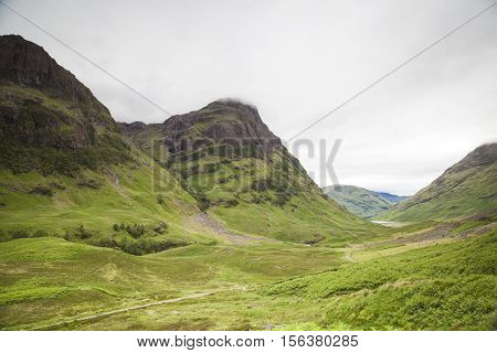 Mountains in the Scottish highlands Glencoe Scotland
