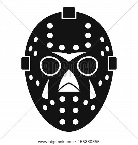 Goalkeeper mask icon. Simple illustration of goalkeeper mask vector icon for web