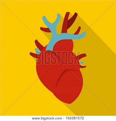 Heart icon. Flat illustration of heart vector icon for web