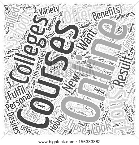 The Personal Benefits Of Short Online Courses word cloud  text backgroundconcept