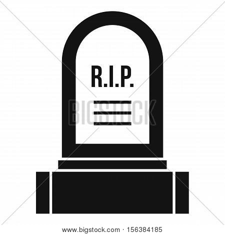 Headstone icon. Simple illustration of headstone vector icon for web