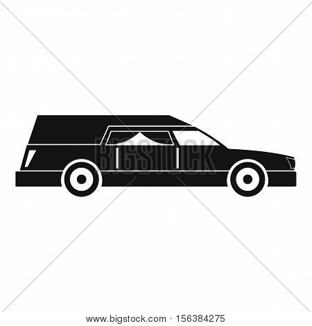 Hearse icon. Simple illustration of hearse vector icon for web