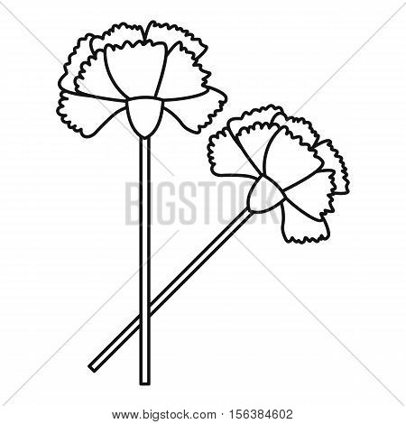 Carnation icon. Outline illustration of carnation vector icon for web