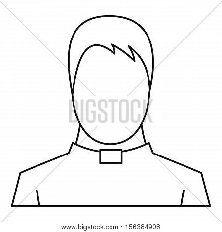 Priest icon. Outline illustration of priest vector icon for web
