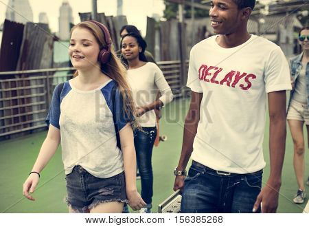 People Friendship Togetherness Hangout Youth Culture Concept