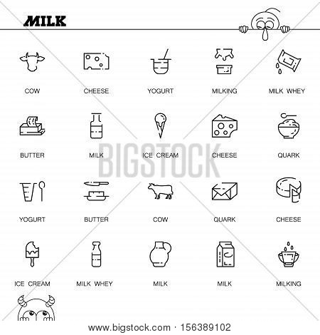 Milk Flat Icon Set Vector Photo Free Trial Bigstock