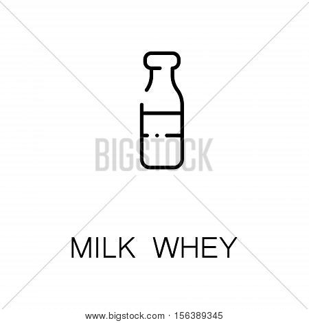 Milk whey flat icon. Single high quality outline symbol of milk food for web design or mobile app. Thin line signs of milk whey for design logo, visit card, etc. Outline pictogram of milk whey