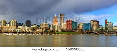 Portland Downtown Skyline