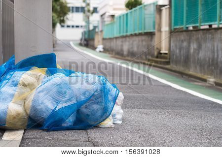 Garbage Management in Japan. Ready to collect, Manner of society of Japanese.