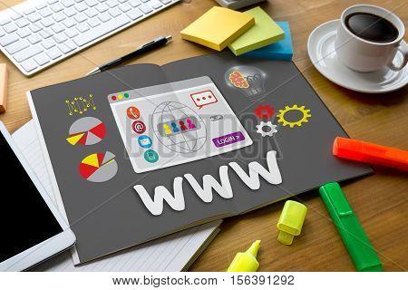 Www Web Online Global Website Technology  Online Internet Web Page