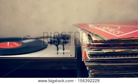 Music Old Fashioned Phonograph Concept