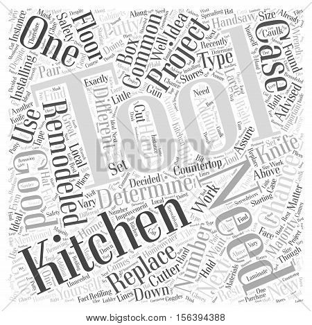 Tools You May Need for Your Next Kitchen Remodeling Project word cloud concept