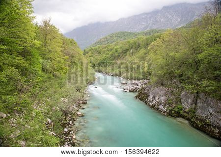 the very nice Waterfall of Slap Kozjak in Slovenia