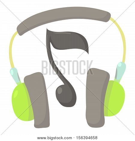 Earphones icon. Cartoon illustration of earphones vector icon for web