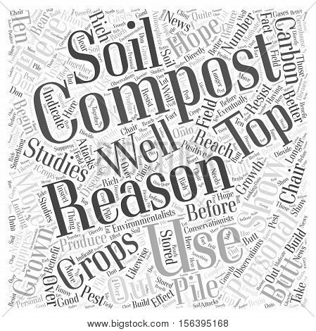Top Reasons for Composting word cloud concept
