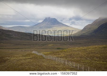 Landscape of Wester Ross a region at the NW coast of Scotland