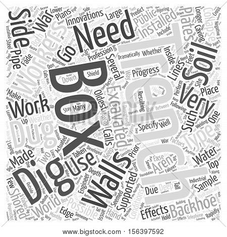 Trench Digging word cloud concept text background