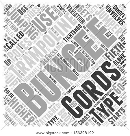 Types of Bungee Jumping word cloud concept