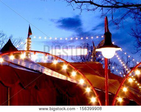 circus tent, Circus, Monti, circus, ambience, flare, magic, white, red, blue, Switzerland, zirkus, cirkus, cirque