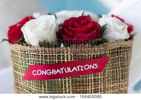 Red roses bouquet - beautiful floral background.