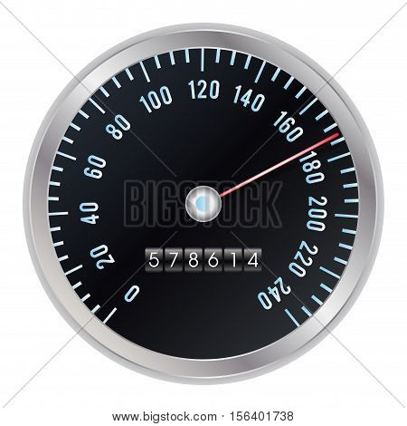 an odometer speed meter on a white background