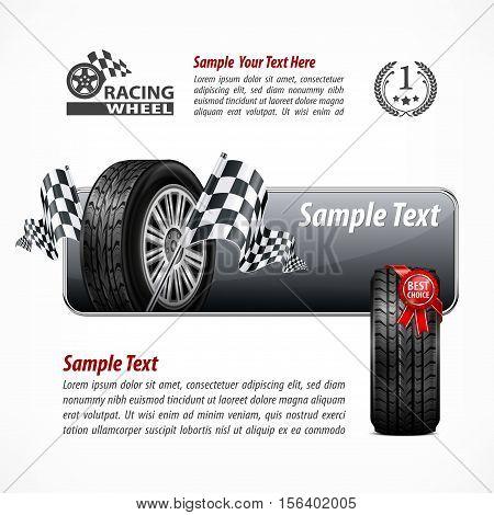 Racing Banner & Text