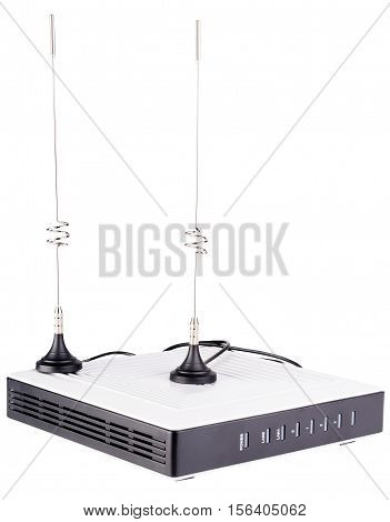 Network wireless media gateway with antennas isolated on the white
