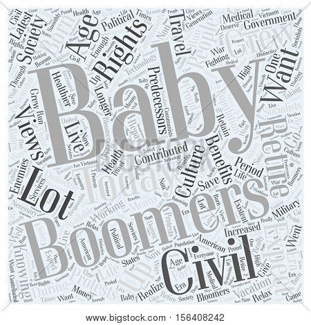 wants of baby boomers word cloud concept