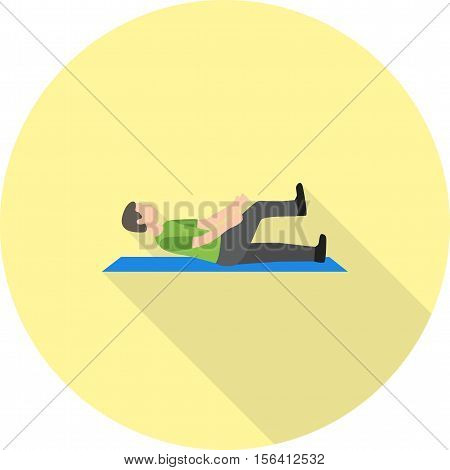 Stretch, sitting, exercise icon vector image. Can also be used for people. Suitable for use on web apps, mobile apps and print media.