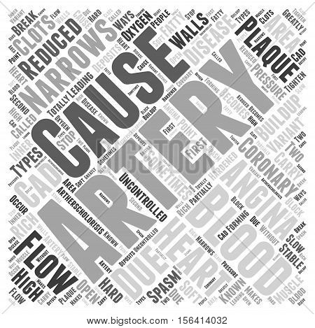 What Causes Angina word cloud concept text background