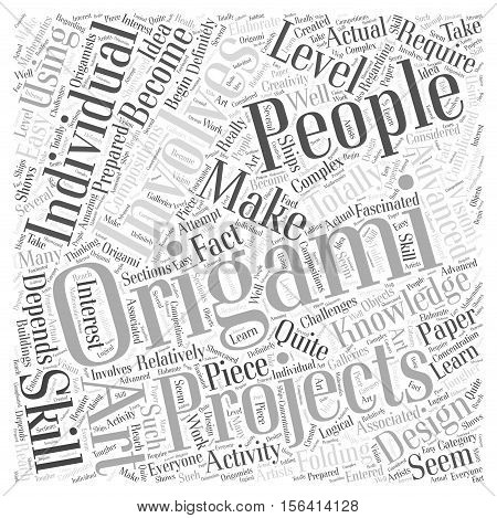 What Can You Make Using Origami word cloud concept text background