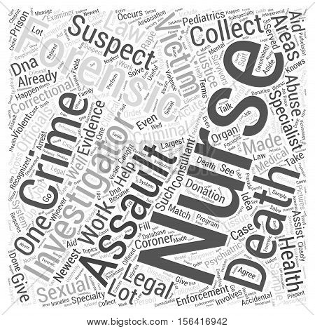 What is Forensic Nursing word cloud concept text background