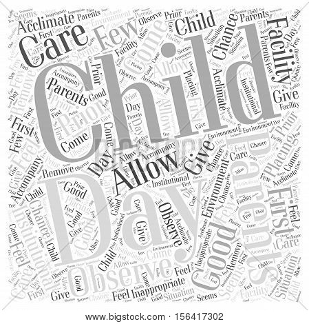 What Is Institutional Day Care word cloud concept text background