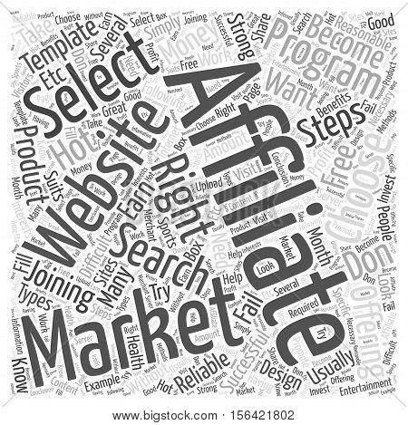 what to do after joining an affiliate program word cloud  text background concept