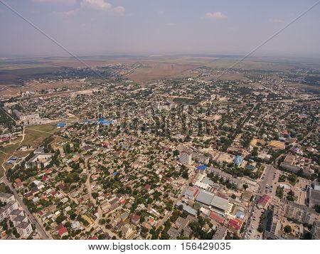 Aerial View Of The Saki City. Crimea.