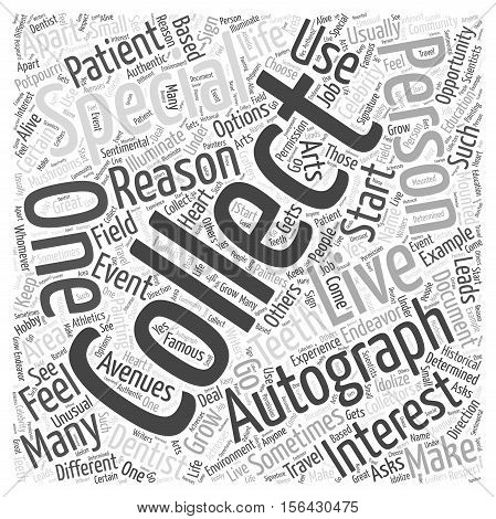 Why are you Autograph Collecting word cloud concepttext background