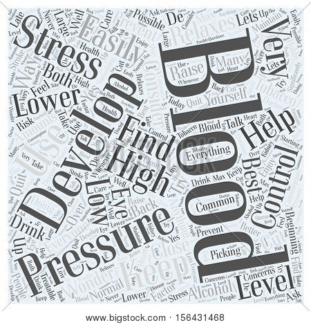 Why Do We Develop High Blood Pressure word cloud concepttext background