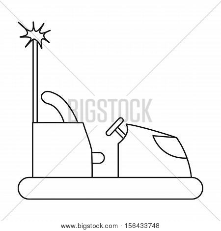 Bumper car icon in outline style isolated on white background. Play garden symbol vector illustration.