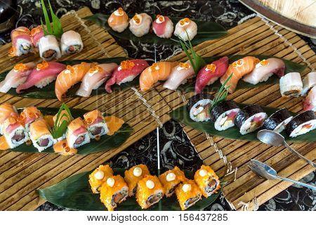Vareity of Sushi seafood set