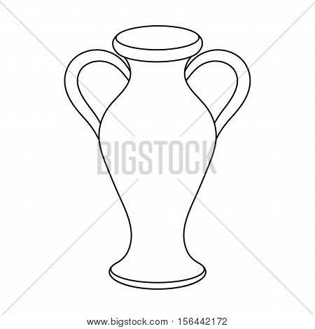 Amphora icon in outline style isolated on white background. Theater symbol vector illustration