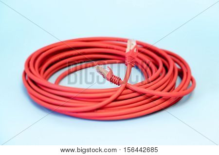 red lan cable rj45 connectors category 6