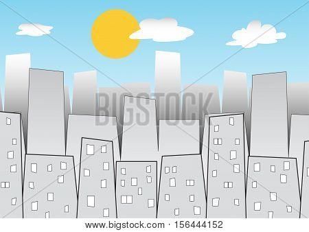 a cartoon city daylight time vector  background
