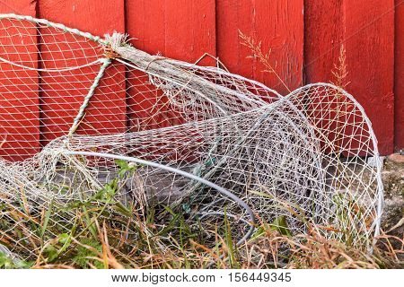 Old Fishing Traps With Net