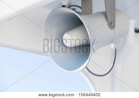 Light Gray Loudspeaker Close-up