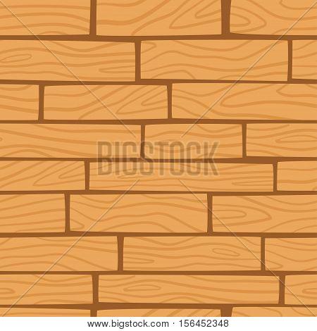 Wooden texture background. Vector seamless pattern. Cartoon wooden boards.