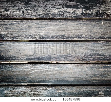 Old Weathered Wood Planks Outside Flooring Texture Background.
