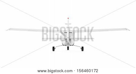 Light Aircraft isolated on white background. 3D render